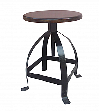 Industrial Iron Stool with beautiful bar *Ready to ship
