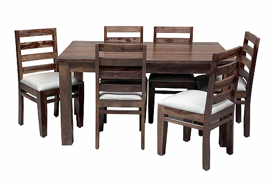 Chocolate & Cream :: Dining Set with Low Backed Chairs