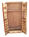 Natural Finish Wooden Wardrobe
