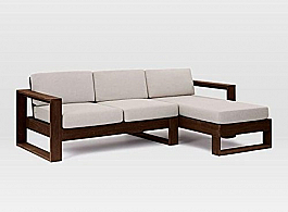 Oxey L sofa sheesham wood