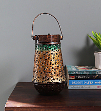TEA LIGHT LONG POT BIG IRON PAINTED