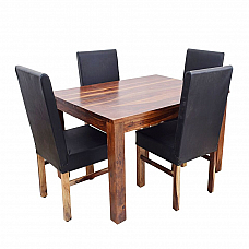 Blackie Dining Table with Chairs :: Ever Elegant * Ready To Ship