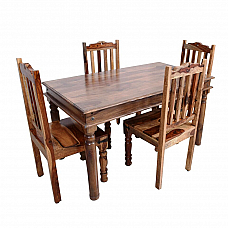Woodland Wonder Dining Table (4 Seater) :: Indo Fusion