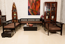 Made of Mettle :: Sofa Set :: 3+2+1+1, 1 Centre Table, 1 End Table :: Roots Rerun
