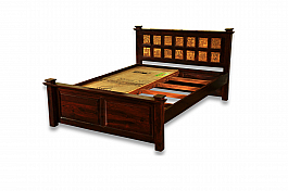 Maharaja Brass fusion Queen size + 2pcs Bedside :: Choice of celebrity