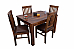 Family Conversations :: Classic Wooden Dining Set :: 4 Seater
