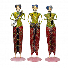 Paji Sardar Musician Set of 3 in Green