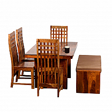 KQ Designer dining table 6 Seat Bench + 4 Chair set : Time together