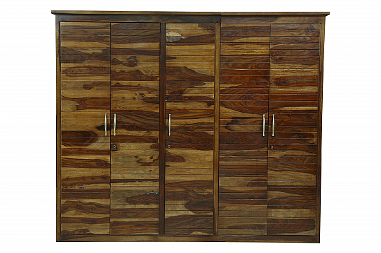 Wall to wall wardrobe in Sheesham wood
