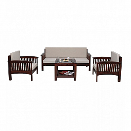 Anne Marie Wooden Sofa Set - 5 pcs :: Classic