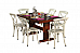 Spartan Wooden Dining Table with Iron chairs Unique comnbination