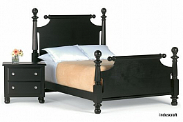 Beautiful Traditional Black Bedroom Set