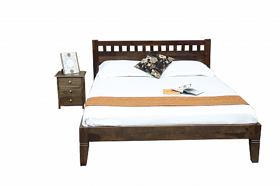 Ethina Beautiful Modern Style Queen Wooden Bed