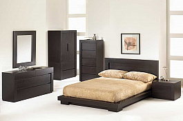 Solid Wood Modern Bedroom Set