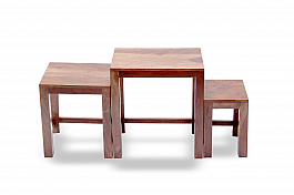White Camel Centre Table :: 3 pieces :: Indo Fusion