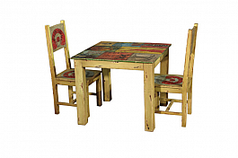 Reclaimed Study table with chairs