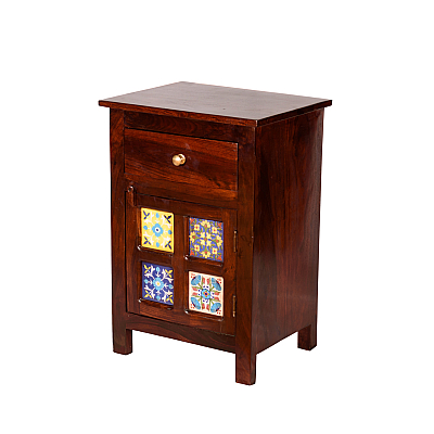 Tile Bedside cabinet, Add some color near bed life !!