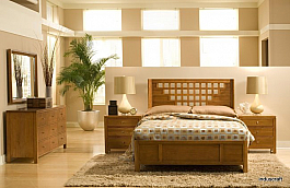 Solid Sheesham Wood Bedroom Set