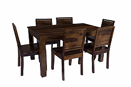Arabia Solid Wood 6 Seater dining Set