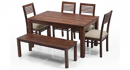 Advent high back Dining set with Bench 6 seater