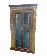 Vintage Style Wooden Almirah with Mirror