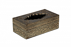 Happy Diwali Decor : Atticus Tissue Box Hand painted Modern Decor *Ready to ship