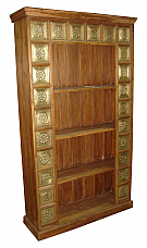 Wooden Brass Bookcase
