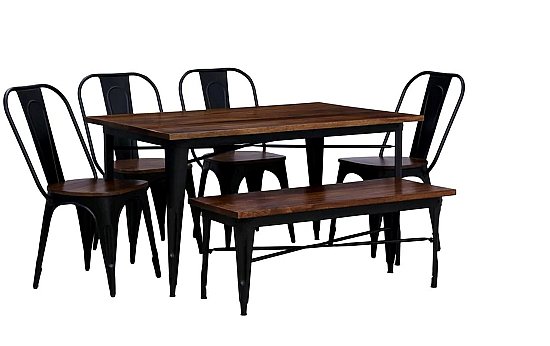 Dublin Mod Dining table set of 6 chair