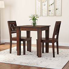 MICKYLE SOLIDWOOD TWO SEATER DINING SET