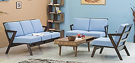 Eilat Modern sheesham wood sofa set 6 seater