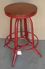 Industrial Iron Stool