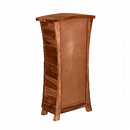 Corner Bookshelf Foldable Sheesham wood