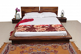 European Grand Queen Size Solid wood Bed