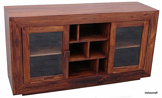 Wooden Flat Screen TV Media Center