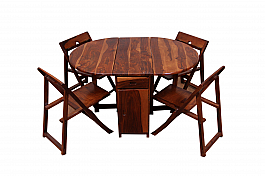 Spicy Oval shape Dining set folding chair and Table set of 5 pcs
