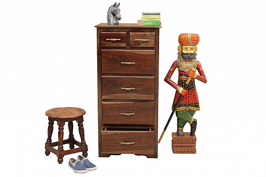 Two Tall :: Chest of Drawers :: Sheesham Wood