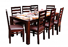 The Cozy Eight :: Sheesham Tadashi Dining Table with Chairs