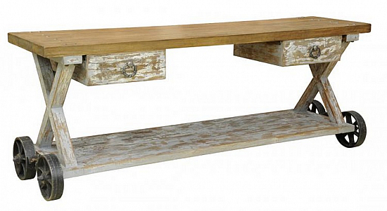 Recycle Console Table Industrial Style