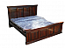 Classic Panel Queen size Bed Rosewood grain:Memorable buying for dream !!